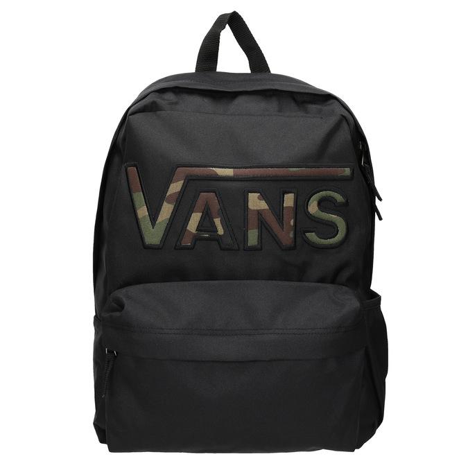 Czarny plecak zlogo vans, czarny, 969-6078 - 26