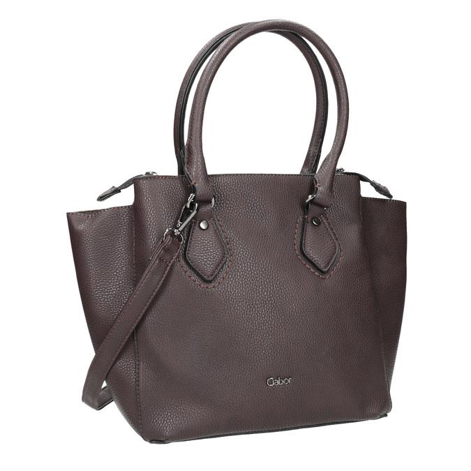 Brązowa torebka damska zpaskiem gabor-bags, brązowy, 961-6039 - 13