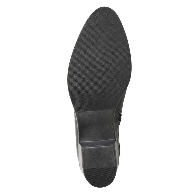 Skórzane botki zmetalowymi ćwiekami bata, czarny, 696-6652 - 17