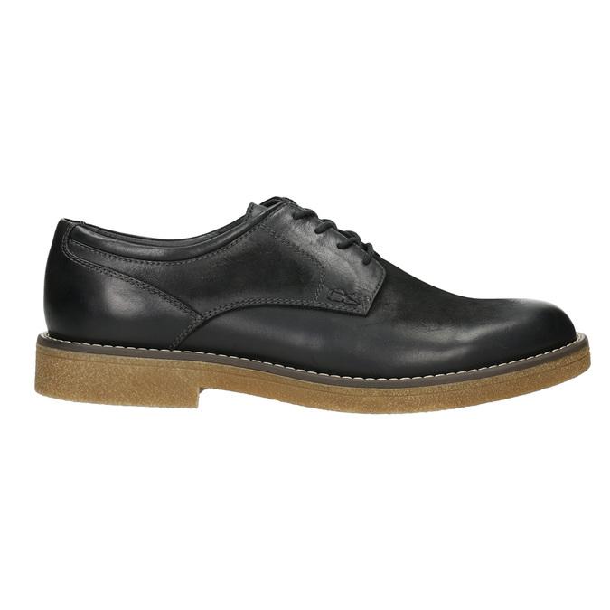 Skórzane półbuty męskie angielki bata, czarny, 826-6620 - 15