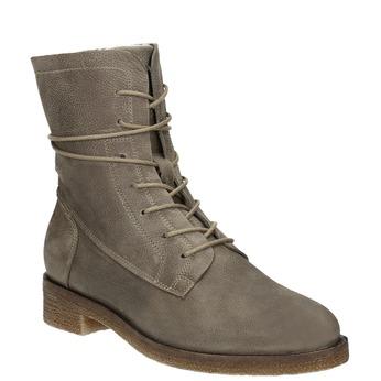 Damskie skórzane buty sznurowane bata, szary, 596-2663 - 13