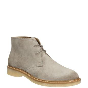 Skórzane damskie desert boots bata, szary, 593-2608 - 13