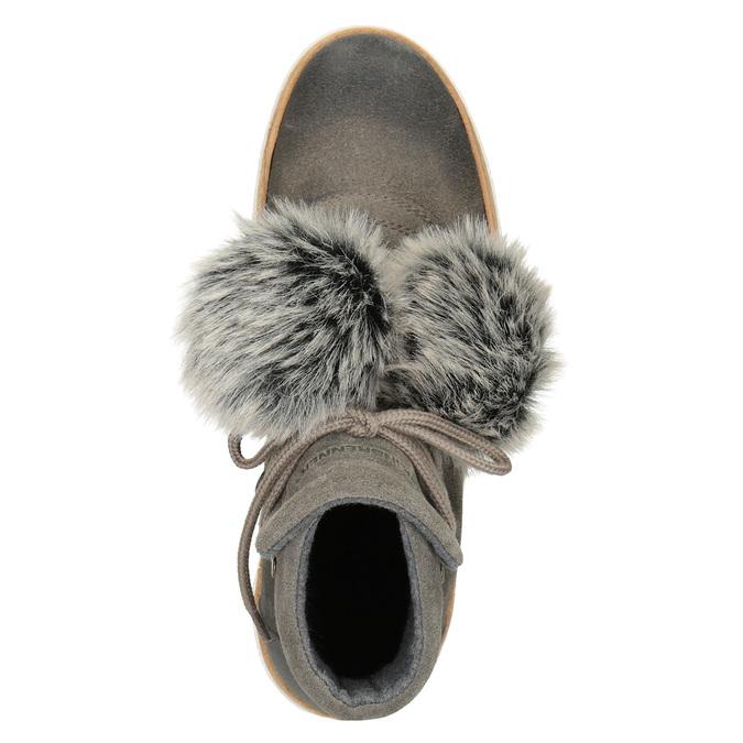 Zimowe sznurowane buty damskie weinbrenner, szary, 596-2674 - 15