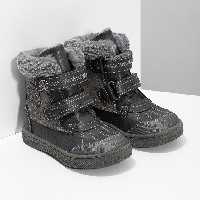 Zimowe buty dziecięce zociepliną bubblegummer, szary, 191-4619 - 26