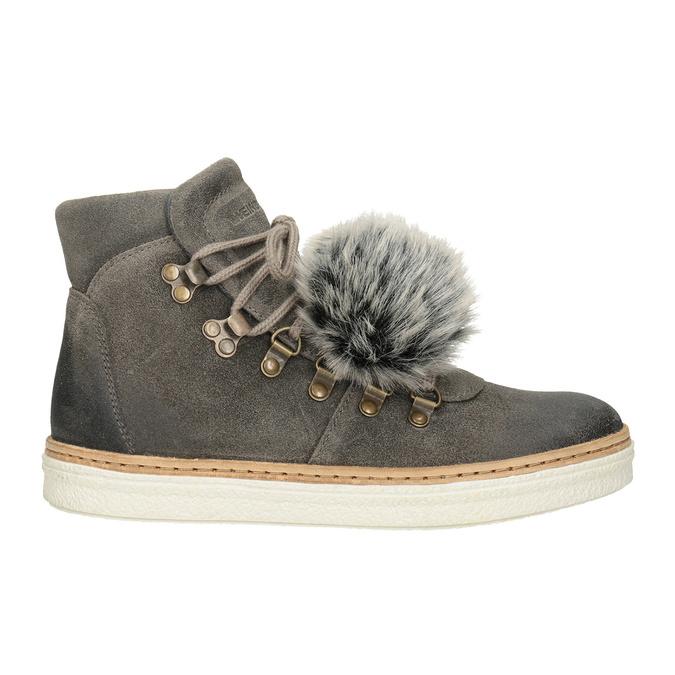 Zimowe sznurowane buty damskie weinbrenner, szary, 596-2674 - 26