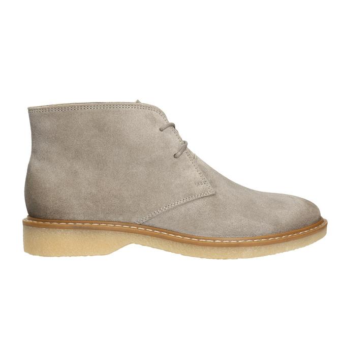 Skórzane damskie desert boots bata, szary, 593-2608 - 15