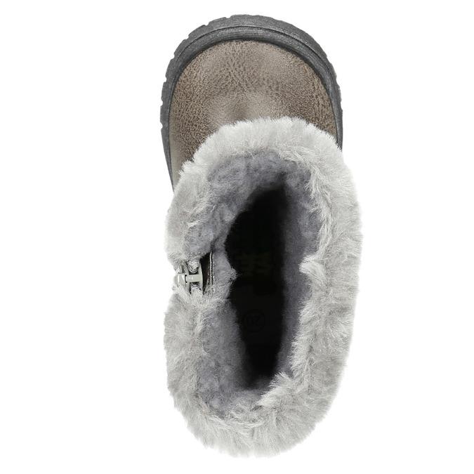 Zimowe buty dziecięce zfuterkiem bubblegummer, szary, 191-2620 - 19