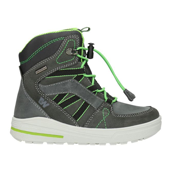 Zimowe buty dziecięce ze skóry weinbrenner-junior, szary, 493-2613 - 26