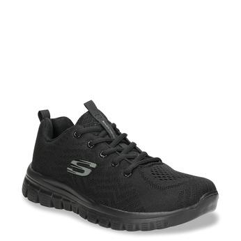 Czarne sportowe trampki zażurowym wzorem skechers, czarny, 509-6318 - 13