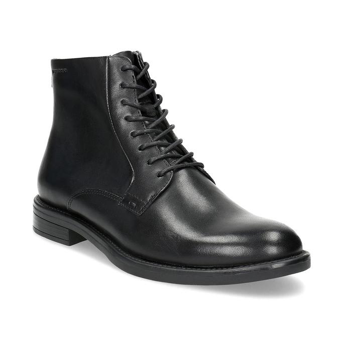 Skórzane botki damskie vagabond, czarny, 524-6010 - 13