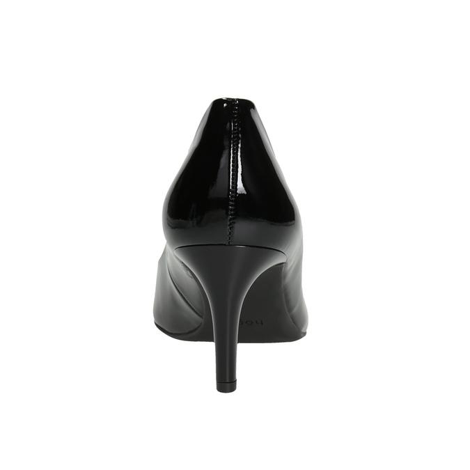 Skórzane czółenka damskie zwycięciem hogl, czarny, 728-6054 - 16