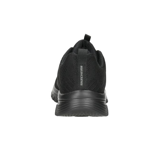 Czarne sportowe trampki zażurowym wzorem skechers, czarny, 509-6318 - 16