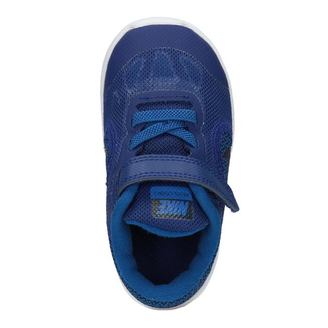 Granatowe trampki dziecięce nike, niebieski, 109-9132 - 15
