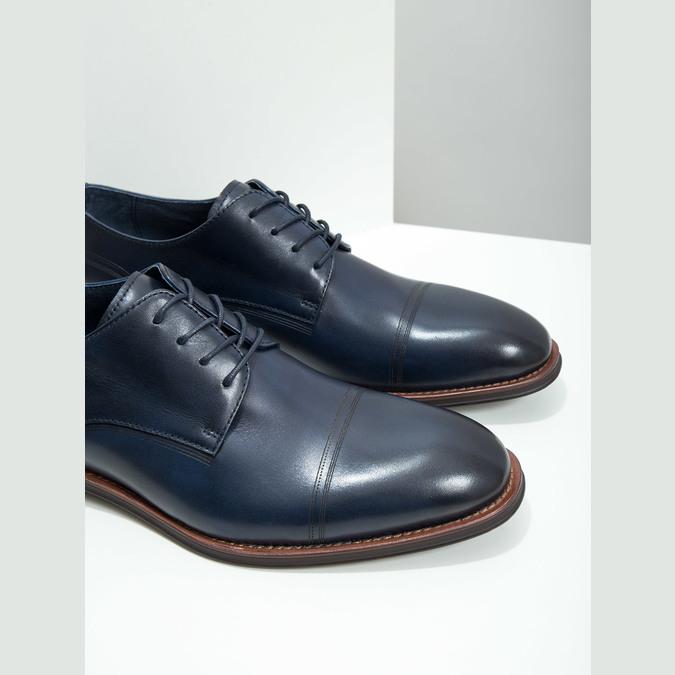 Niebieskie nieformalne półbuty ze skóry bata, niebieski, 826-9681 - 14