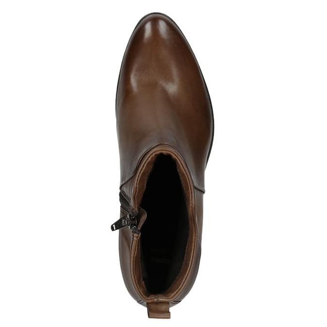 Botki na stabilnych obcasach bata, brązowy, 696-4654 - 15