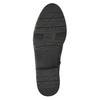 Skórzane kozaki z elastycznym paskiem bata, czarny, 596-6655 - 19