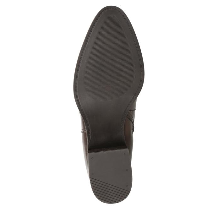 Skórzane botki zklamrami bata, brązowy, 696-4650 - 17