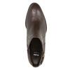Skórzane botki zklamrami bata, brązowy, 696-4650 - 15