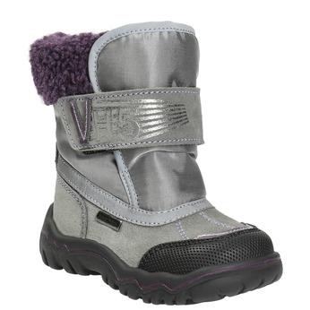 Dziewczęce obuwie zimowe z futerkiem bubblegummer, szary, 193-2601 - 13