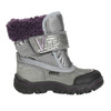 Dziewczęce obuwie zimowe z futerkiem bubblegummer, szary, 193-2601 - 15