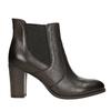 Skórzane buty za kostkę na obcasie bata, brązowy, 796-4647 - 15