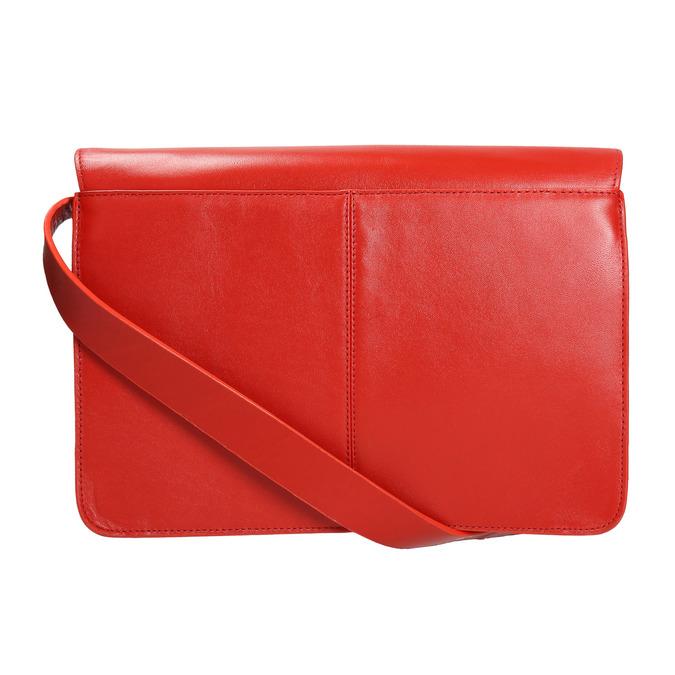 Czerwona skórzana torba vagabond, czerwony, 964-5086 - 26