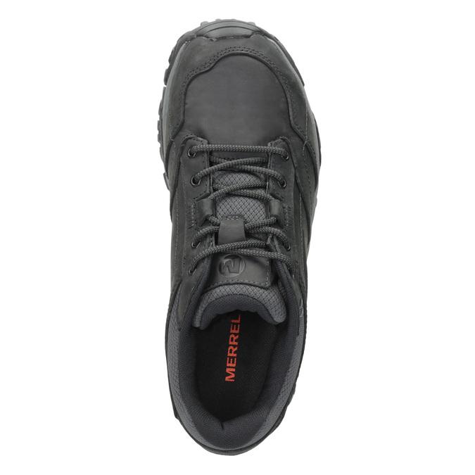Skórzane obuwie męskie wstylu outdoor merrell, czarny, 806-6561 - 15