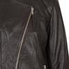 Skórzana kurtka damska zasymetrycznym zamkiem błyskawicznym bata, brązowy, 974-4177 - 16