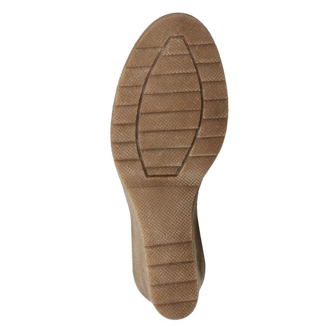 Brązowe kozaki ze skóry bata, brązowy, 793-4607 - 19