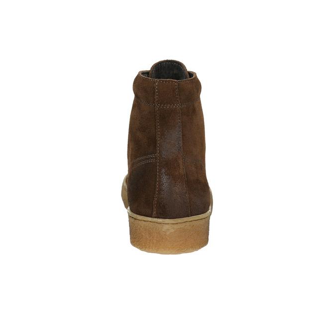 Brązowe skórzane buty za kostkę bata, brązowy, 843-3632 - 17