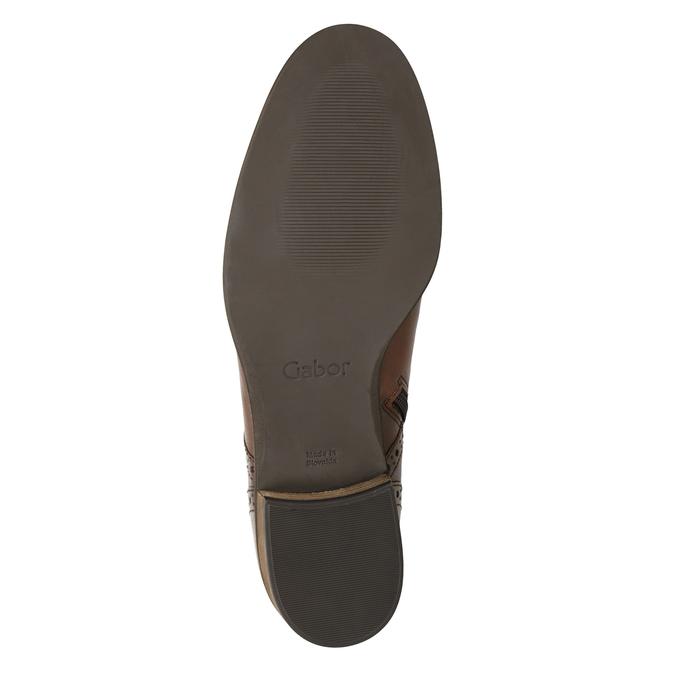 Skórzane botki damskie gabor, brązowy, 526-3038 - 17