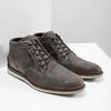 Szare skórzane obuwie za kostkę bata, szary, 826-2912 - 18