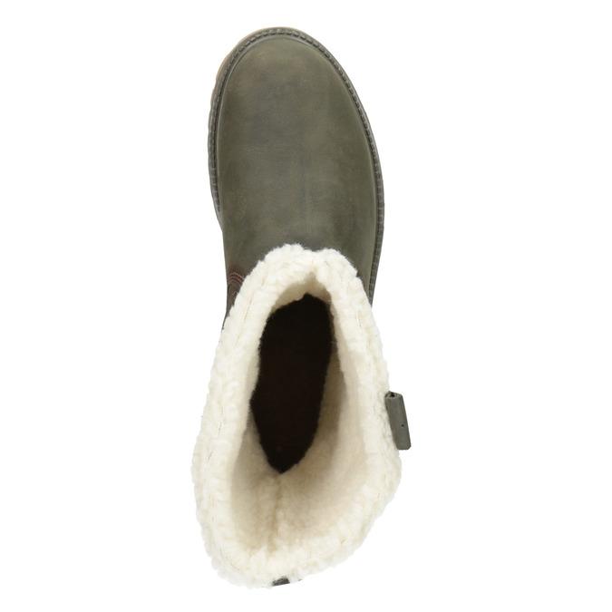 Zimowe buty damskie zfuterkiem weinbrenner, khaki, 594-2455 - 15