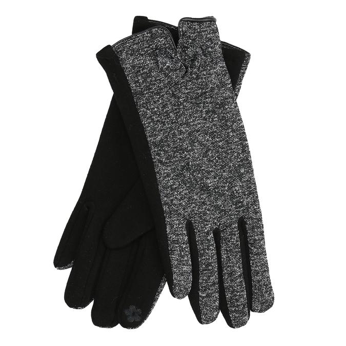 Damskie rękawice zkokardką bata, czarny, 909-6615 - 13