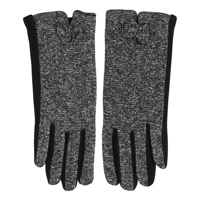 Damskie rękawice zkokardką bata, czarny, 909-6615 - 26