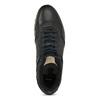 Skórzane trampki męskie zociepliną bata, czarny, 846-6646 - 17