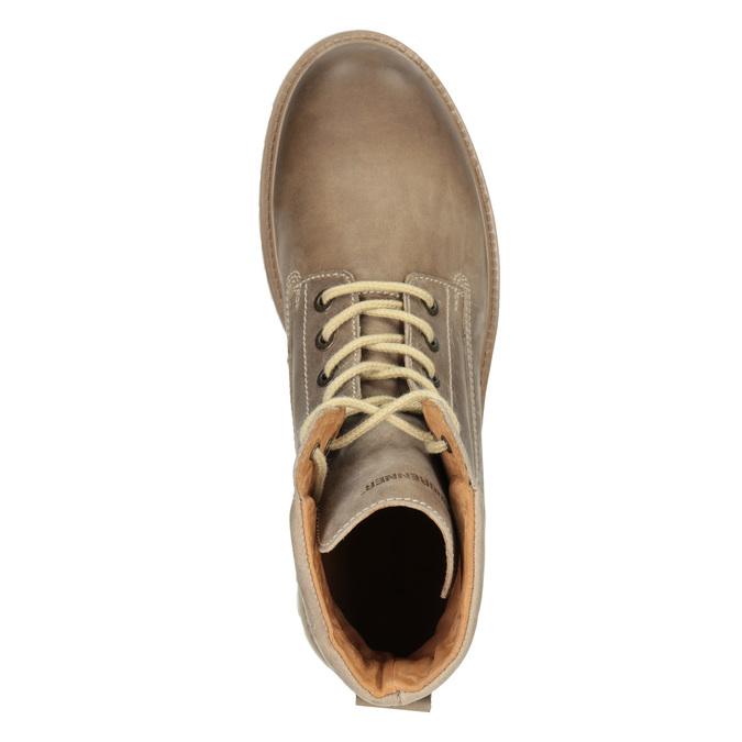 Brązowe skórzane buty za kostkę weinbrenner, 896-8702 - 15