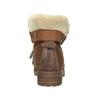 Buty za kostkę z kożuszkiem bata, brązowy, 591-4618 - 17