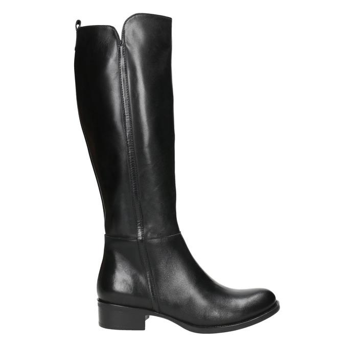 Skórzane kozaki damskie bata, czarny, 594-6586 - 15