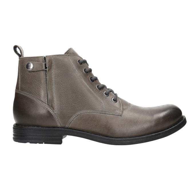 Męskie buty ombré za kostkę bata, szary, 896-2684 - 15