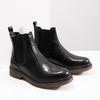 Skórzane obuwie damskie typu chelsea bata, czarny, 594-6680 - 18