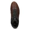 Brązowe skórzane trampki męskie zociepliną bata, brązowy, 846-4646 - 17