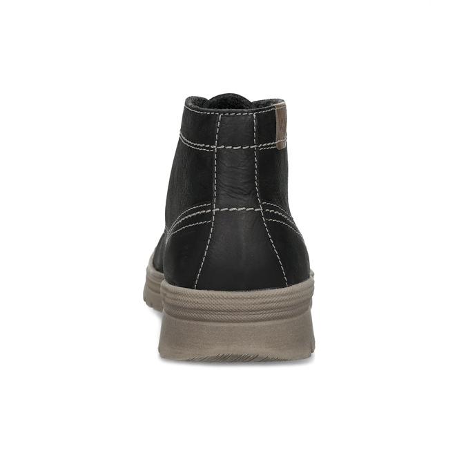 Skórzane zimowe buty męskie weinbrenner, czarny, 896-6107 - 15