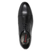 Skórzane półbuty męskie typu angielki conhpol, czarny, 824-6990 - 15