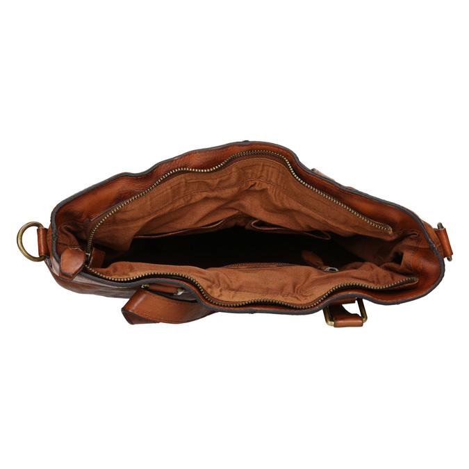 Skórzana torebka damska bata, brązowy, 964-3245 - 15