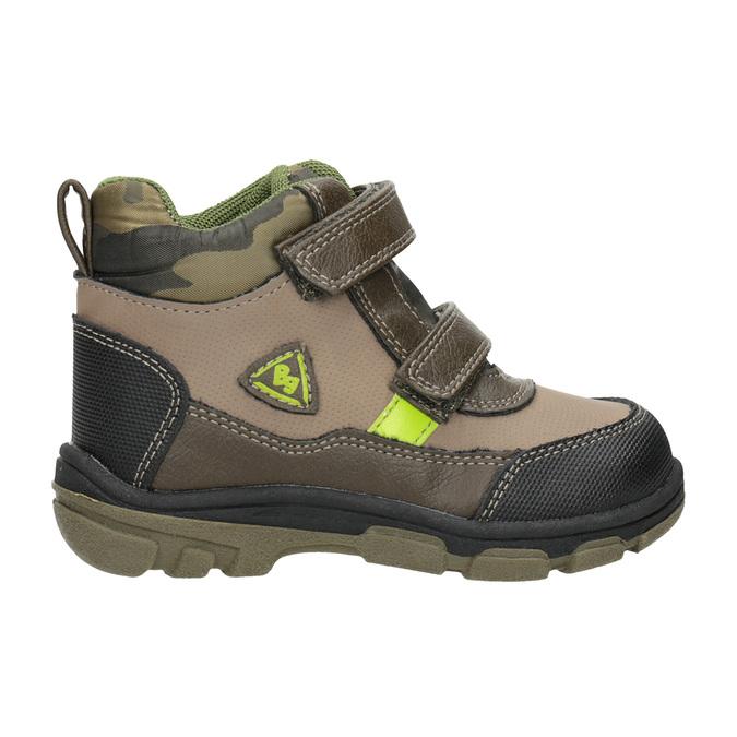 Zimowe buty dziecięce na rzepy bubblegummer, brązowy, 111-4623 - 26