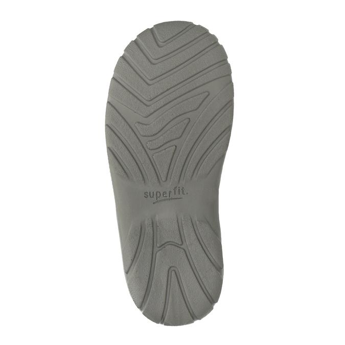 Skórzane obuwie dziewczęce za kostkę, szary, 123-2035 - 17