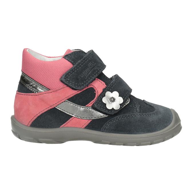 Skórzane obuwie dziewczęce za kostkę, szary, 123-2035 - 26