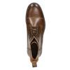 Skórzane ocieplane buty za kostkę bata, brązowy, 896-4662 - 26