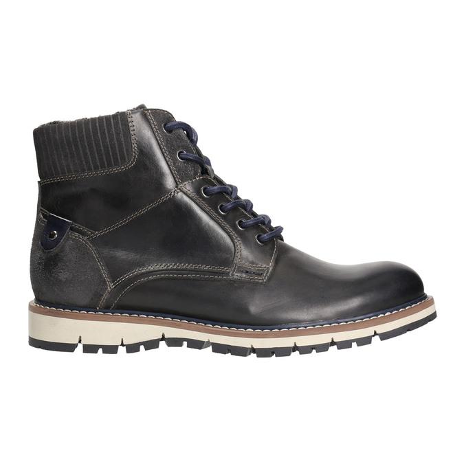 Zimowe obuwie męskie za kostkę bata, szary, 896-2657 - 15
